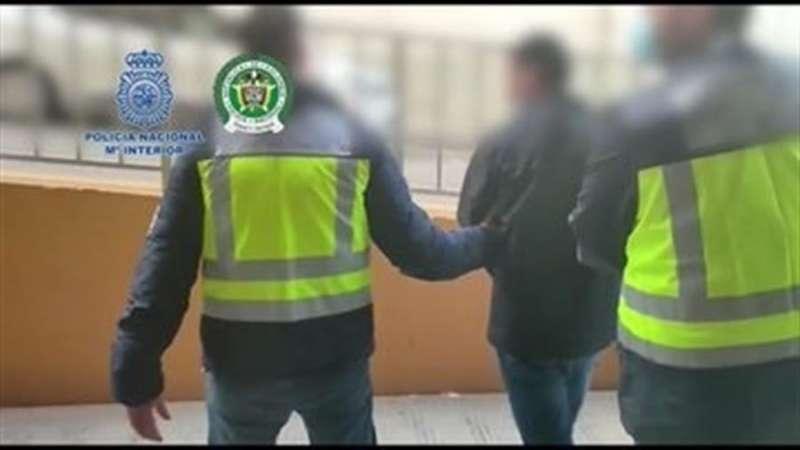 Imagen de la detención difundida por la Policía Nacional.