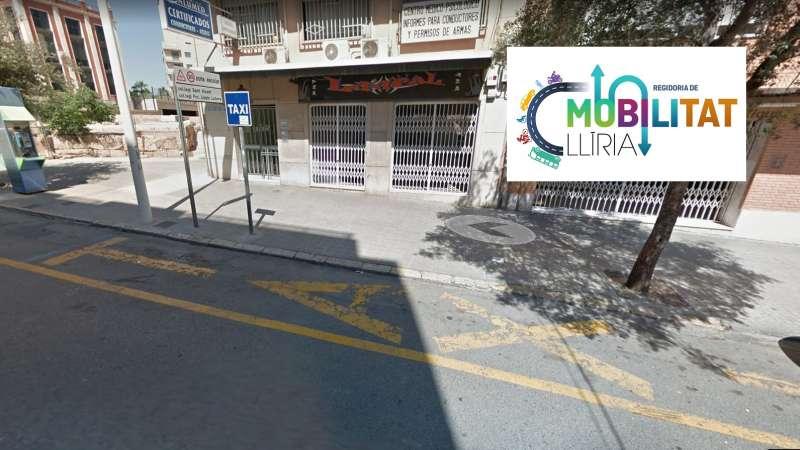 Parada taxi en Llíria. / EPDA