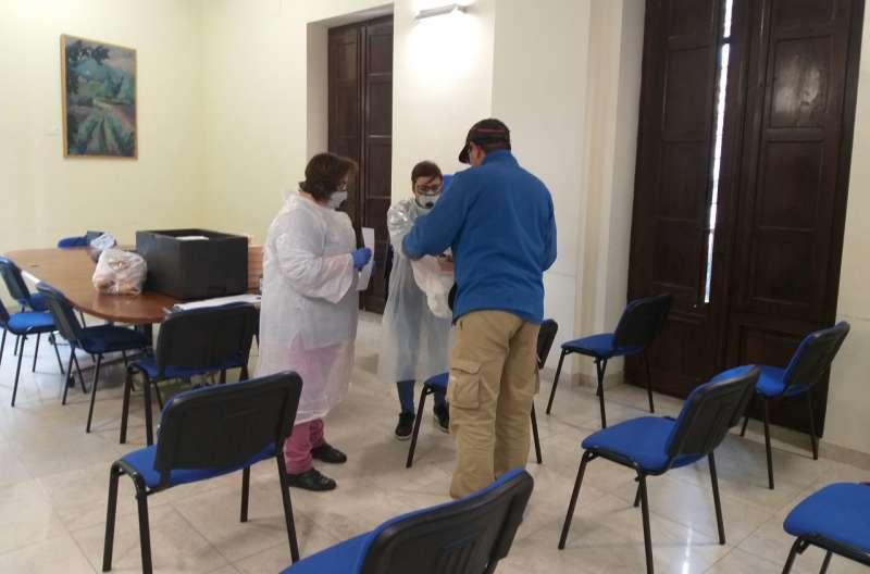 Preparando el reparto