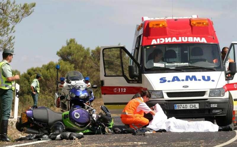 Accidente de un motorista en la provincia de Alicante. EFE