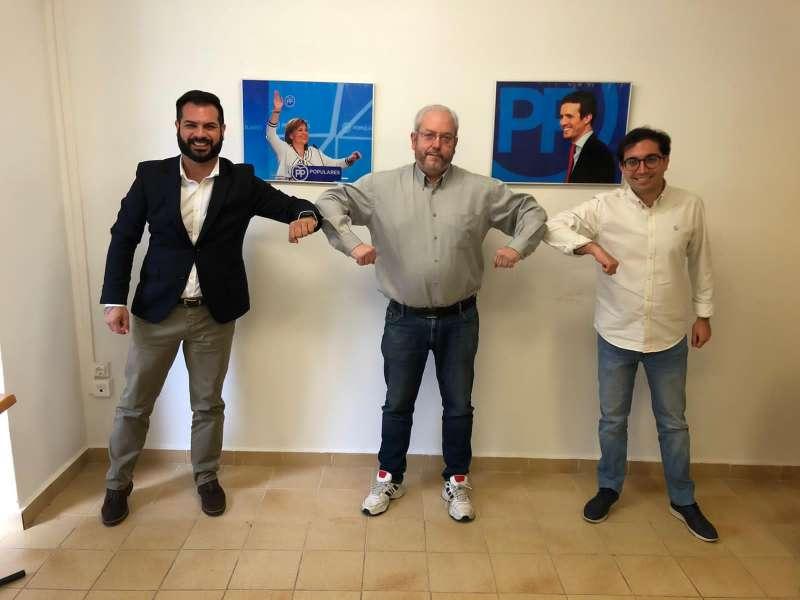 Modesto Martínez con David Sánchez y Marcos Campos