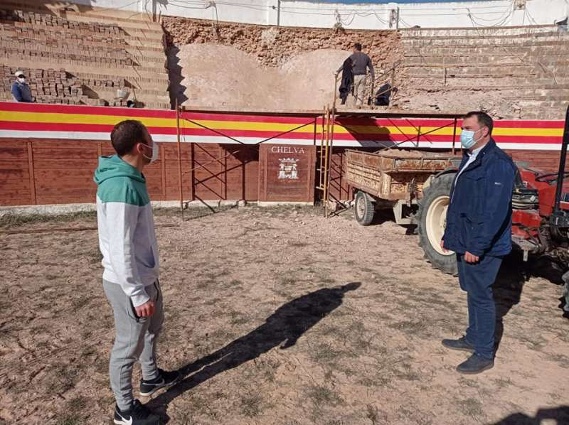 Ésta es la segunda fase de rehabilitación de la Plaza de Toros. / EPDA