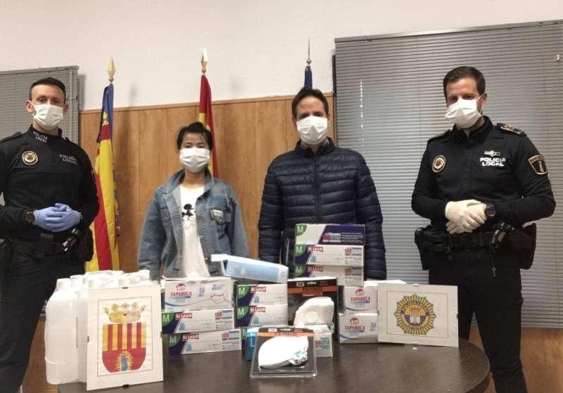 Donació de material per la comunitat xinesa. EPDA