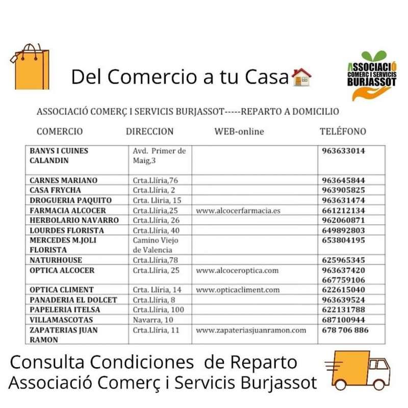 Comercios asociados con reparto a casa. EPDA