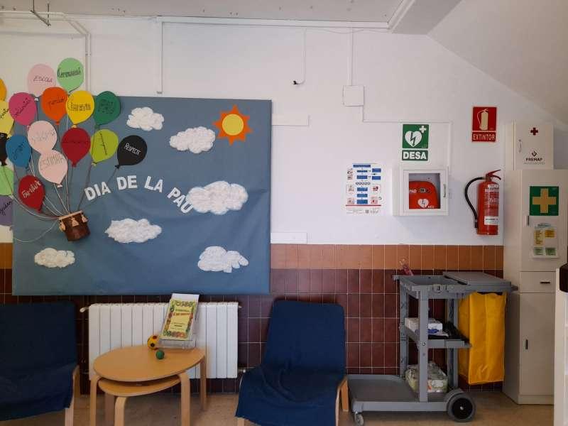 Un aula de un colegio de Massalfassar.