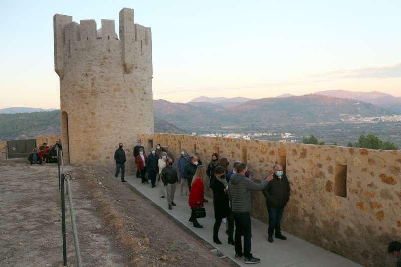 Las autoridades recorrieron el recinto fortificado