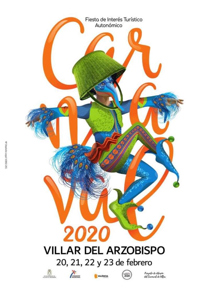 Cartel del Carnaval de Villar del Arzobispo de 2020. / EPDA