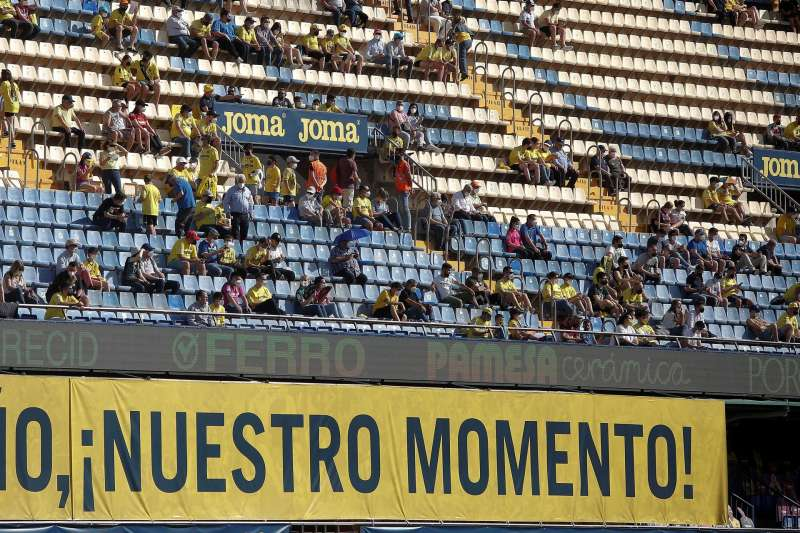 La grada del Estadio de la Cerámica en un partido reciente/EFE