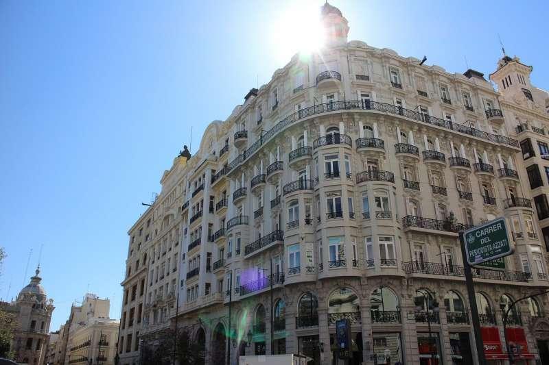 Imagen de archivo del cielo despejado en Valencia. EPDA