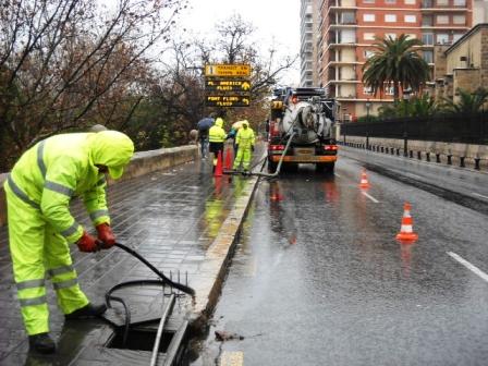 Junto a estas actuaciones se han realizado cerca de 150 inspecciones en los sistemas de drenaje de aguas pluviales. Foto: EPDA.
