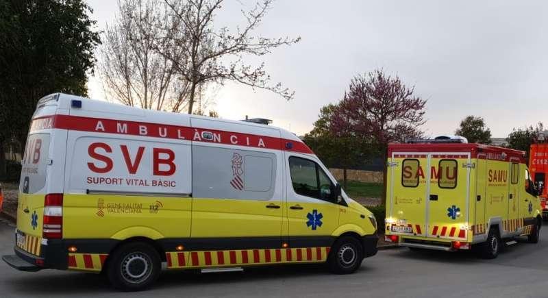 Ambulancias en una foto de archivo.
