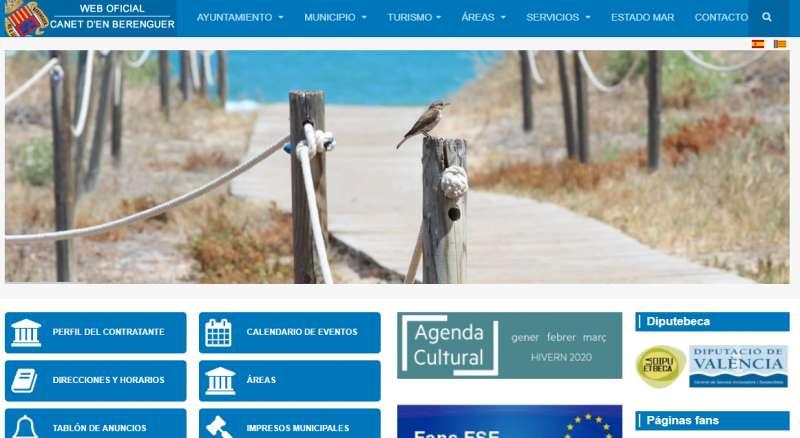 Página web del Ayuntamiento de Canet d