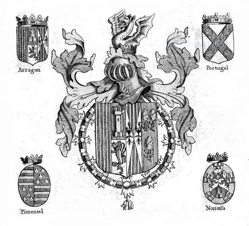 Armas de Alonso de Aragón, Duque de Segorbe