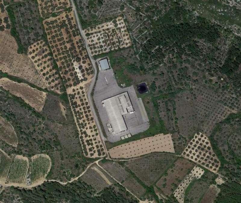 Ubicación de las naves abandonadas en terreno rústico de la localidad castellonense de Sant Mateu. EFE