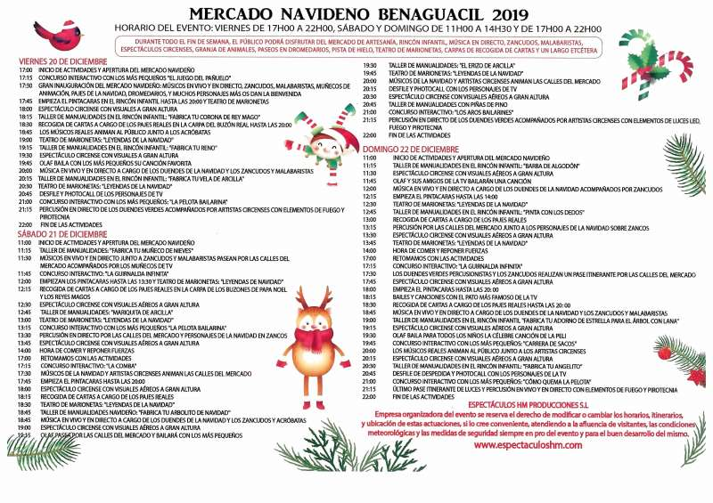 Programación de Navidad de Benaguasil. / EPDA