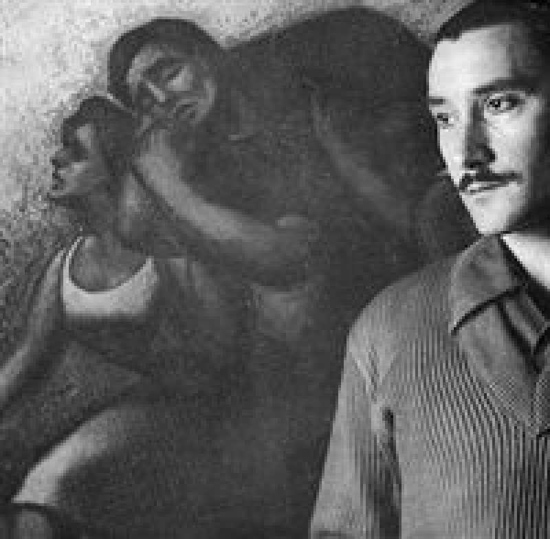 Ricardo Bastid amb una de les seues obres. EPDA