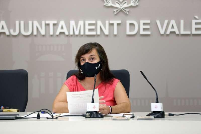 Isabel Lozano, en el Ayuntamiento de València. EPDA