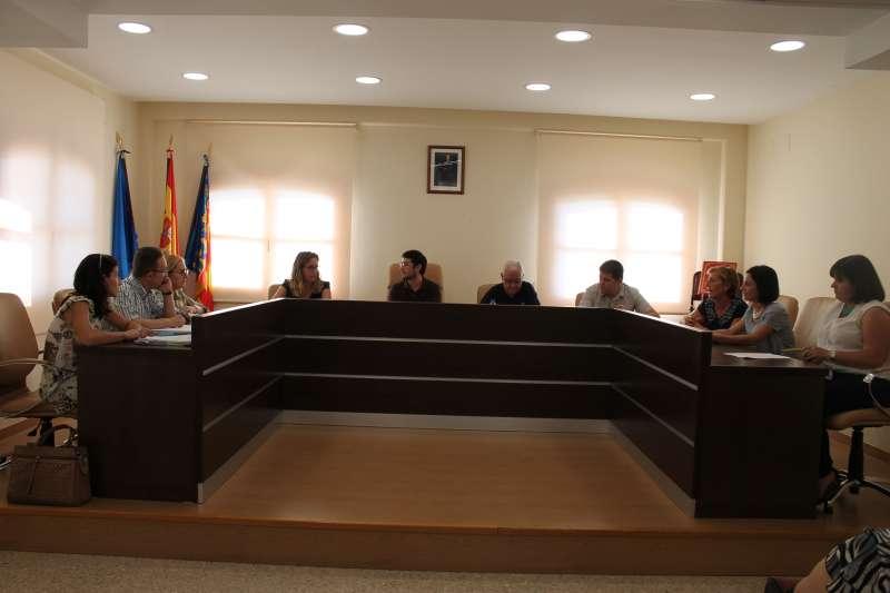 Concejales en el pleno del Ayuntamiento de Algímia d