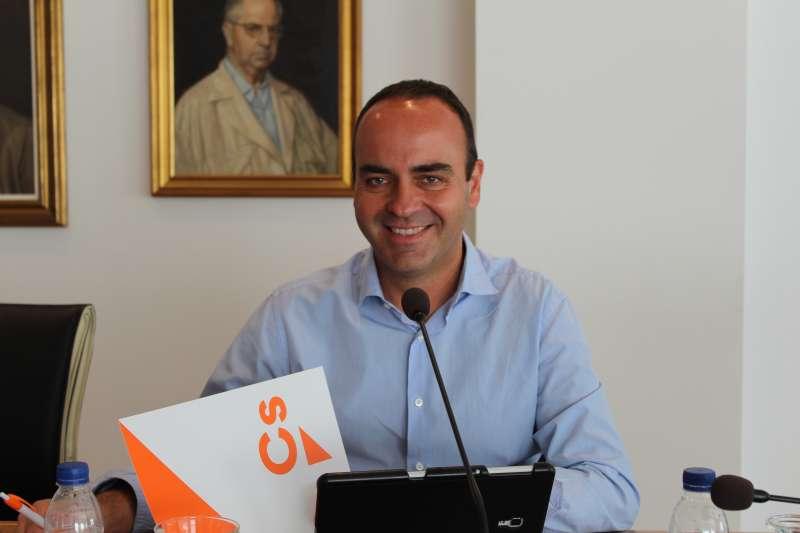 El portavoz de Ciudadanos en el Ayuntamiento de Vila-real, Domingo Vicent. EPDA