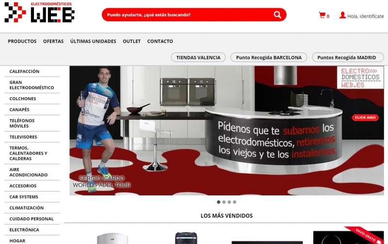 Página web de Llacer Electrodomésticos