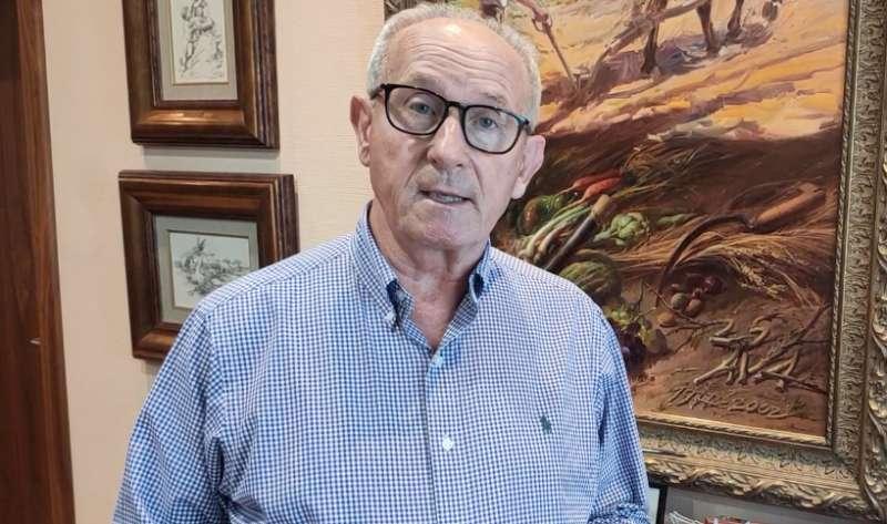 El presidente de AVA-ASAJA, Cristóbal Aguado, durante sus declaraciones