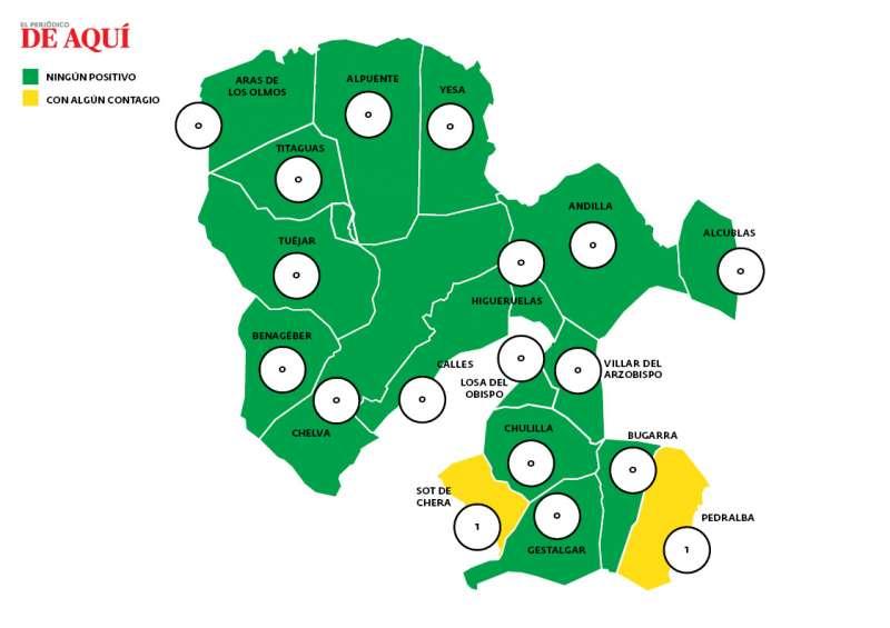 Mapa de La Serranía a 29 de marzo. EPDA.