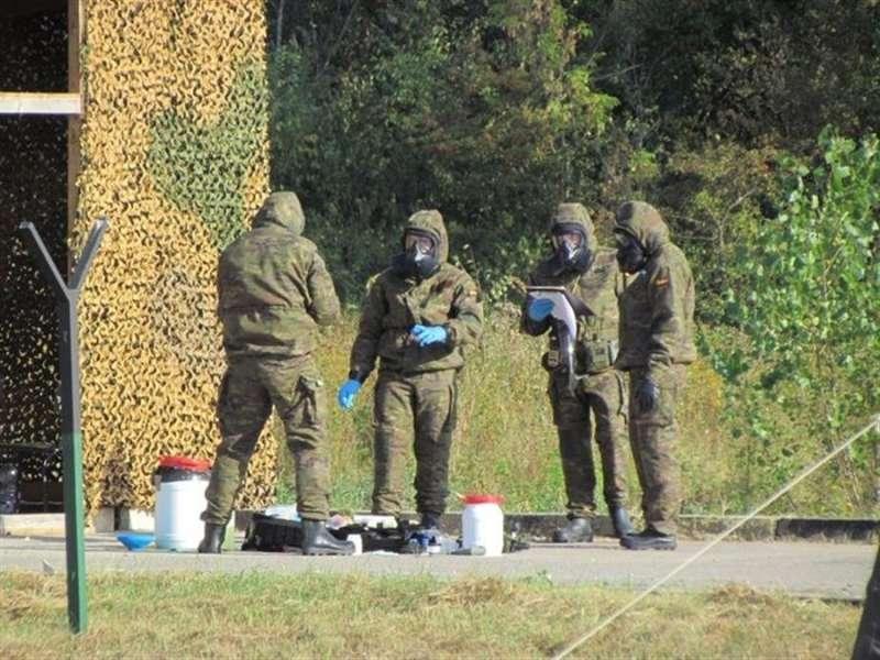 Miembros del Regimiento de defensa nuclear y biológica, en una imagen del Ejército de Tierra.
