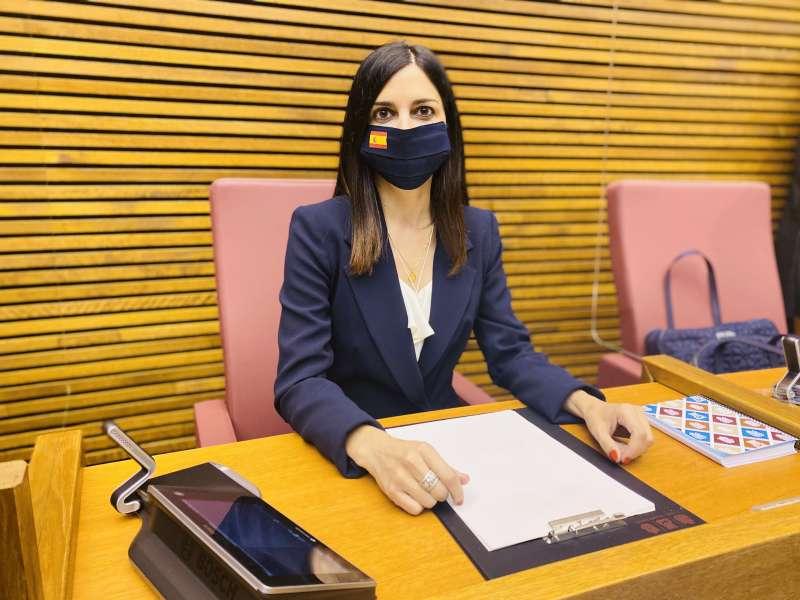 La diputada del Grupo Parlamentario VOX Comunidad Valenciana, Miriam Turiel.