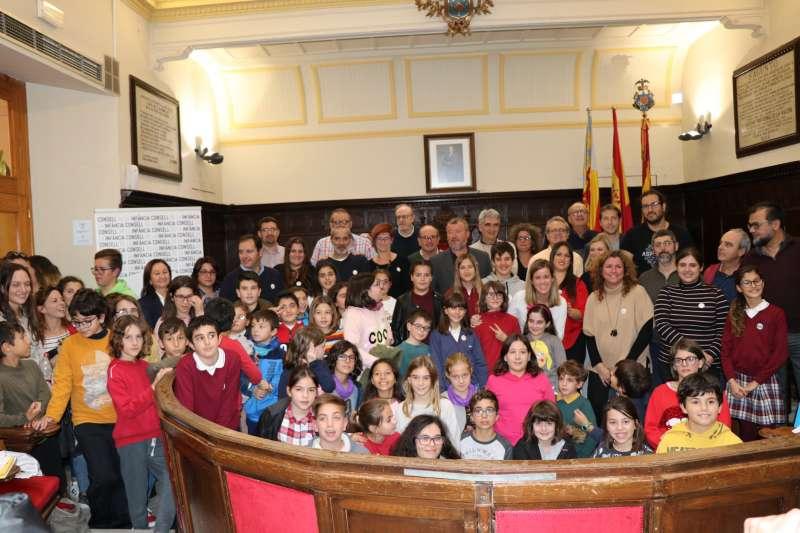 Participantes en el primer pleno infantil de Sagunt. EPDA
