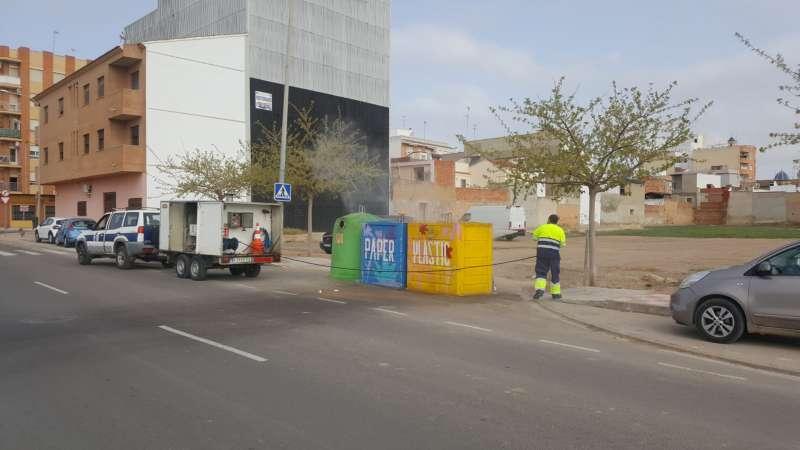 Neteja exterior contenidors d