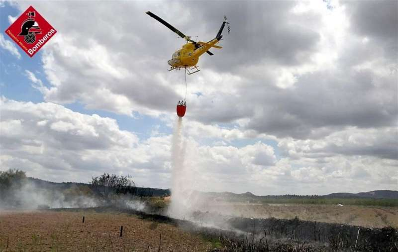 Una imagen del suceso, facilitada por el Consorcio de Bomberos.