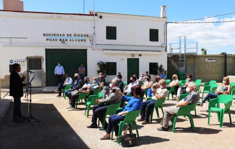 Presentación de la tubería en el Pozo San Álvaro (Chiva).