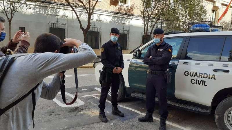 Agentes de la Guardia Civil que acudieron a la agresión machista del pasado lunes