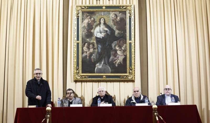 Un momento de la intervención del arzobispo. A. SÁIZ (AVAN)