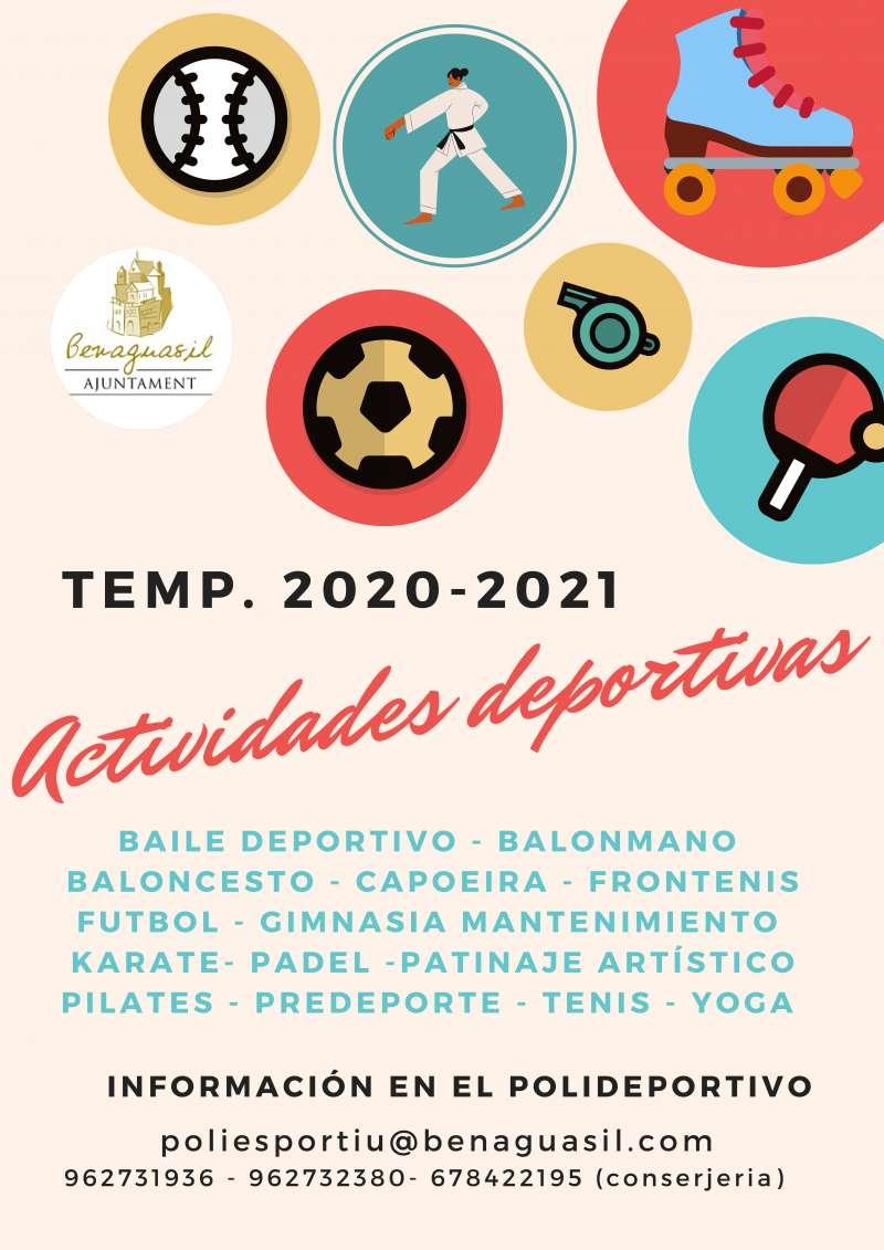Cartel de actividades deportivas. / EPDA