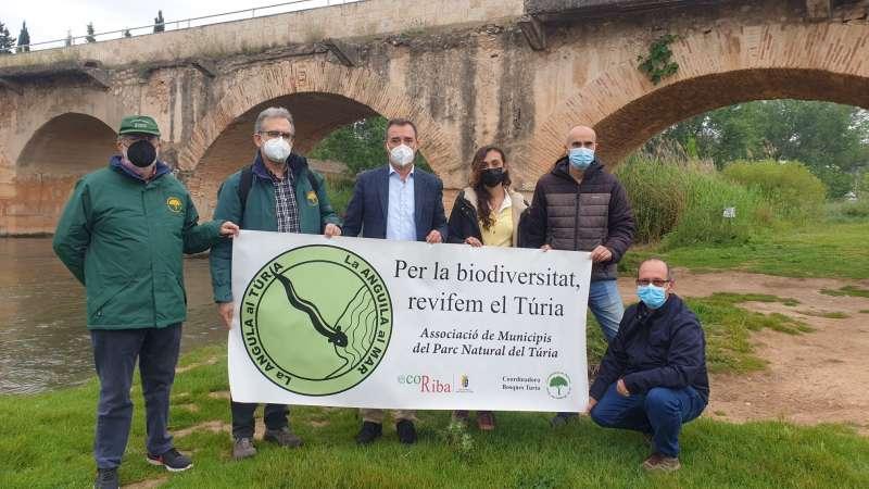 Pancarta en apoyo a la reivindicación. EPDA.