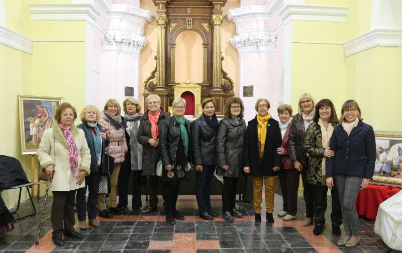 La capilla de la Virgen de Gracia alberga la muestra