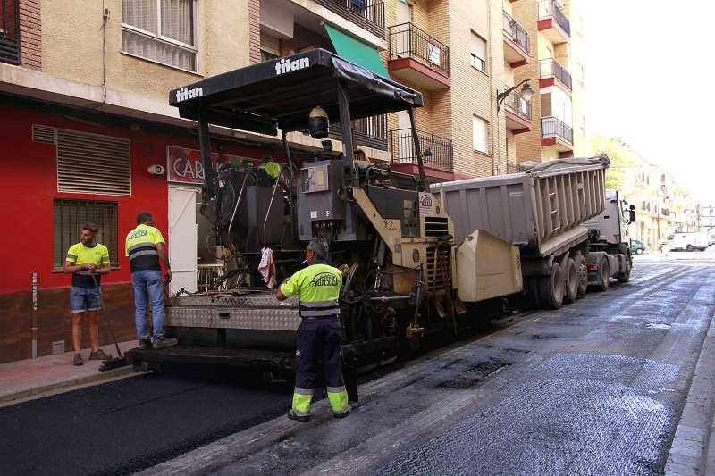 Asfaltado de la calle Teresa de Puçol. EPDA