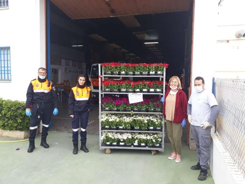 Flores para los voluntarios de Torrent. EPDA