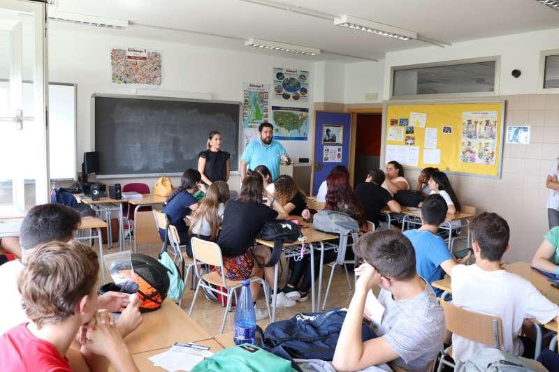 López, en una reunió sobre pressupostos participatius. EPDA