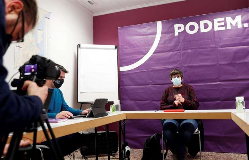 La coodinadora autonómica de Podem, Pilar Lima, durante el Consejo Ciudadano del partido. EFE
