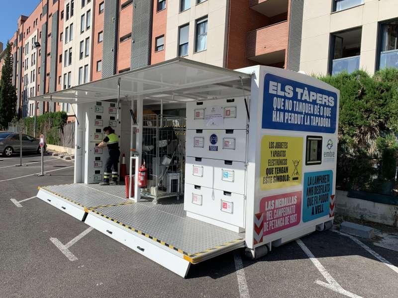 Ecoparque móvil en Lloma Llarga. EPDA