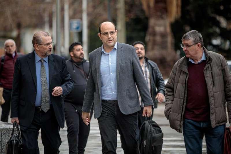 El ex jefe de gabinete de presidencia de la Diputación de Valencia Ricard Gallego (centro). EFE
