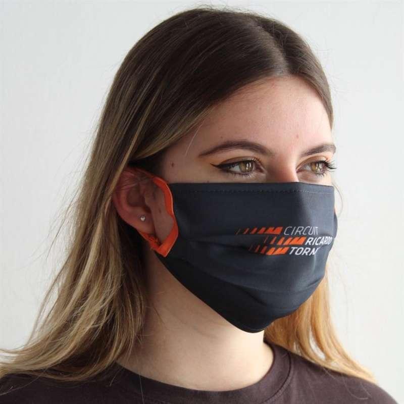 El Circuito Ricardo Tormo pone a la venta mascarillas para colaborara con Cáritas.Imagen facilitada por el Circuit. EFE