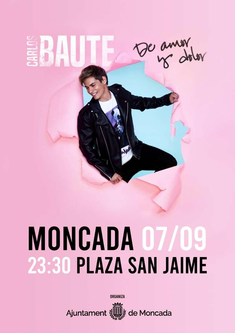 Cartel anunciando el concierto de Baute en Moncada.