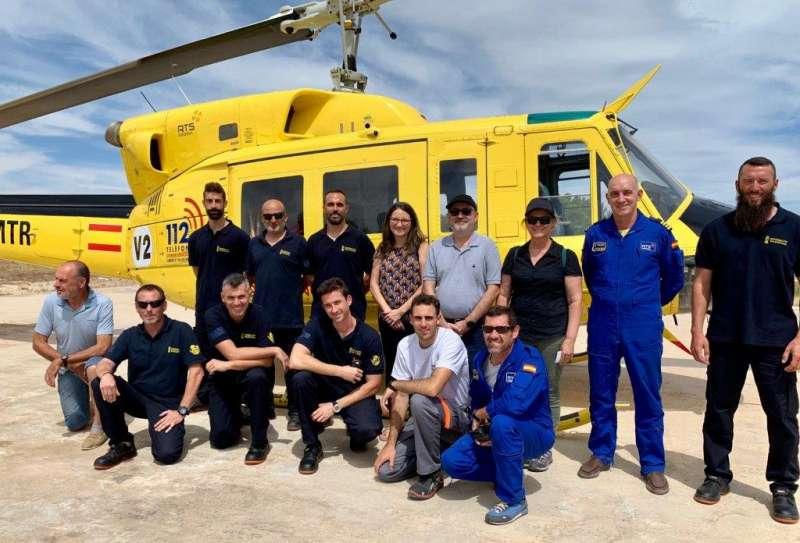 Mónica Oltra ha visitado la base aérea de Enguera. GVA