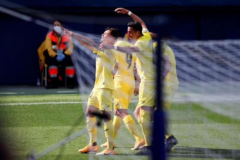 Yeremi Pino marcó el último gol del Villarreal antes de la final de la Liga Europa.  EFE/ Domenech Castelló