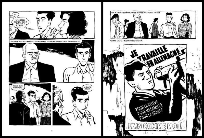Imagen facilitada por la editorial Astiberri de dos páginas del cómic