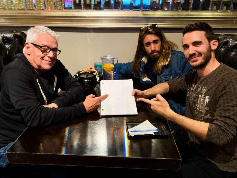 Cleve Jones, Pablo Riquelme y Borja Moreno/EPDA