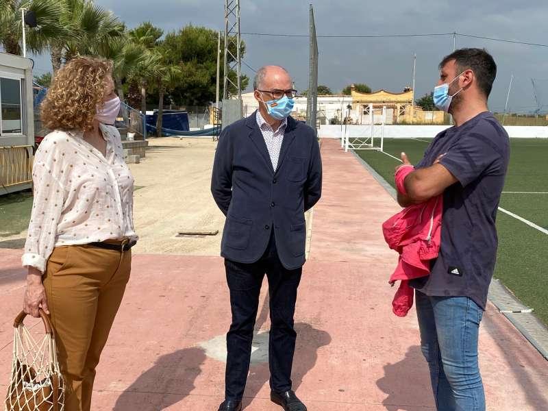 Fernando de Rosa y Amparo Folgado con Javi Noguera. EPDA